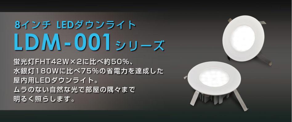 8インチLEDダウンライト LDM-001シリーズ