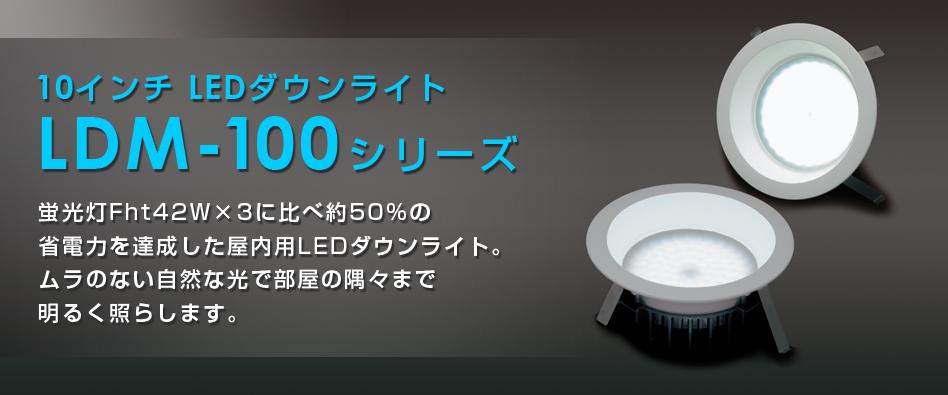 10インチLEDダウンライト LDM-100シリーズ