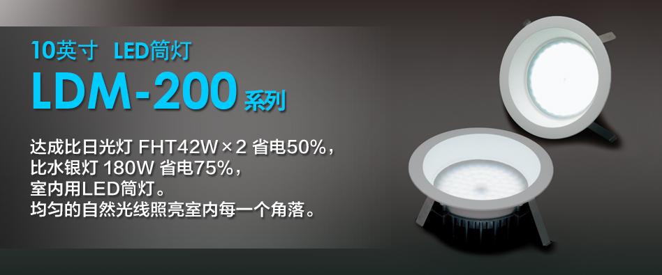 10インチLEDダウンライト LDM-200シリーズ
