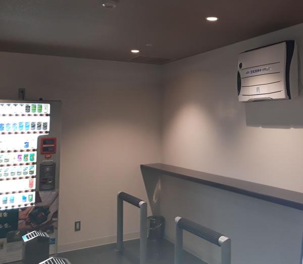 海ほたるPA喫煙室に設置されている弊社空気清浄機「バイオミクロンBM-S801A」