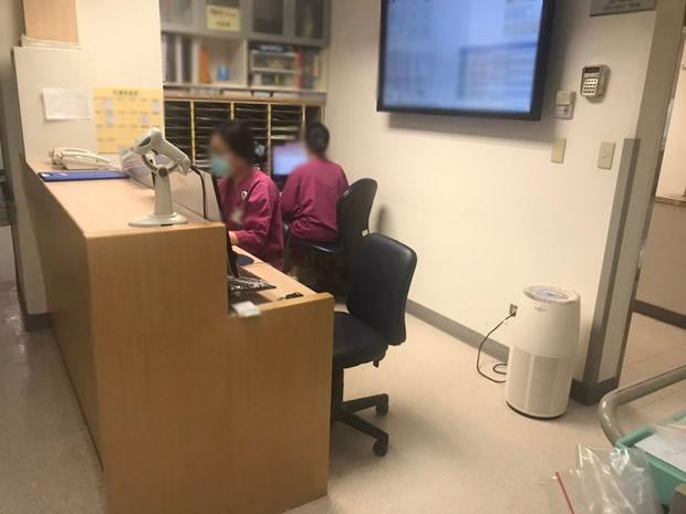 台湾の総合病院で稼働している当社空気清浄機「バイオミクロンサークル」