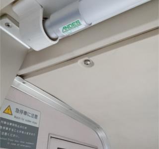 青い森鉄道車両に採用された鉄道車両用LED直管ランプ LLS50/LLS55シリーズ