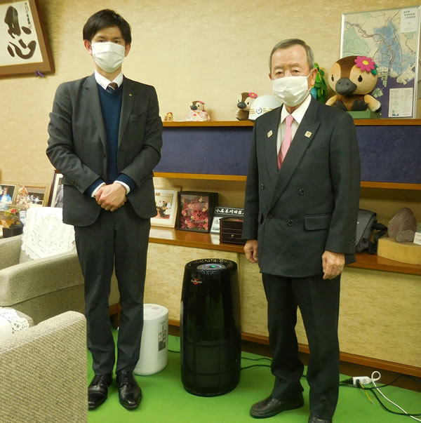 江東区へ感染対策としてバイオミクロンサークルPROを贈呈